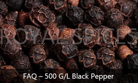 FAQ 500 Gram Liter black pepper