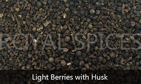 Light Berries with Husk Black Pepper Vietnam